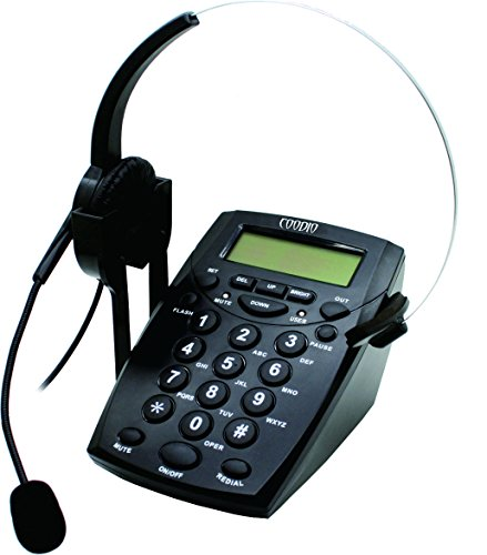 Phone Recorder Cable : Dialpad with headset coodio corded phone call center