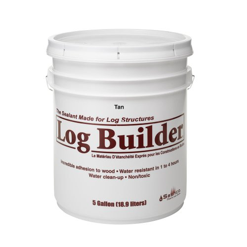 Sashco Log Builder Acrylic Latex Chinking Sealant, 5 Gallon Pail, Tan (Pack of 1)