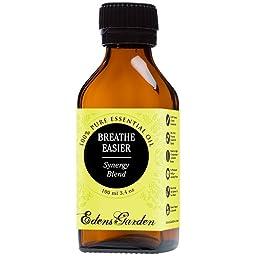 Breathe Easier Synergy Blend Essential Oil by Edens Garden (Peppermint, Rosemary, Lemon & Eucalyptus)- 100 ml