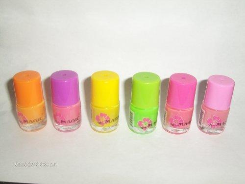 Glow in the Dark Neon Nail Polish (6 Pack)