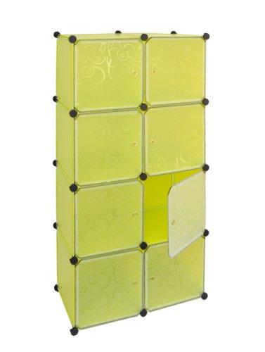 ts ideen regal schrank flur diele badregal kleiderschrank wandregal in gelbgr n steckregal. Black Bedroom Furniture Sets. Home Design Ideas