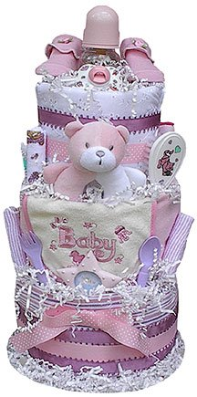 3 Tiered Diaper Cake (Boy, Girl, or Neutral)