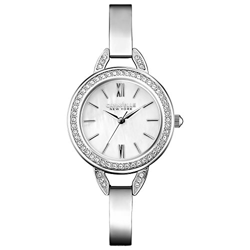 Caravelle New York Women's Quartz Watch with perfectly Petite Analog Quartz Stainless Steel 43L166