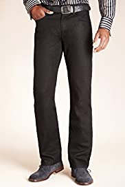 Shorter Length Straight Fit Denim Jeans