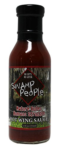 Swamp People Nature Rules Humans Struggle Hot Wing Sauce No Guts No Gator (Nature Rules Humans Struggle Hot Wing Sauce, 12 oz) (Georgia Peach Salsa compare prices)