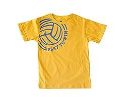 Anthill Boys' T-Shirt (AM104B_Yellow_5 - 6 Years)