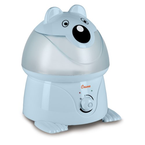 Crane Adorable Ultrasonic Cool Mist Humidifier with 2.1 Gallon Output per Day – Blue Panda