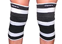 White Crusher 3 Ply Knee or Elbow Sleeves - Powerlifting (X-large 11-12.5 inches around joint)
