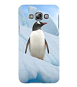 PENGUINS A BEAUTIFULL CREATION OF GOD 3D Hard Polycarbonate Designer Back Case Cover for Samsung Galaxy E7 :: Samsung Galaxy E7 E700F (2015)