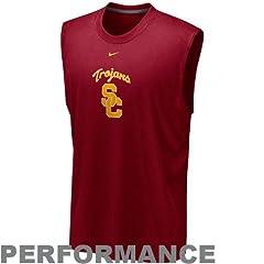 Nike Southern Cal Trojans Dri-FIT Mascot Sleeveless Shirt by Nike