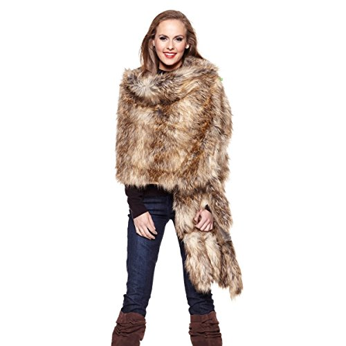 adrienne-landau-faux-coyote-fur-readers-wrap-with-foxtail-ends