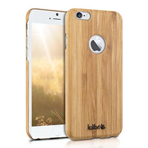 kalibri-Holz-Case-Hlle-fr-Apple-iPhone-6-6S-Handy-Cover-Schutzhlle-aus-Echt-Holz-und-Kunststoff-aus-Bambusholz-in-Bambus