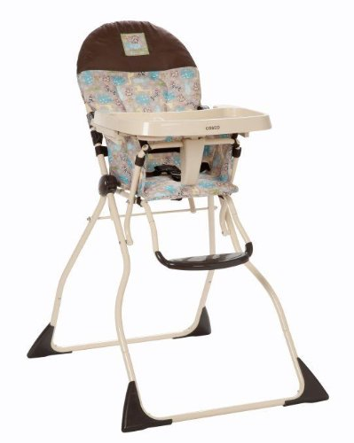 New Cosco Slim Fold High Chair With 3-Position Adjustable Tray Kontiki - Hc186Bgt back-1031943