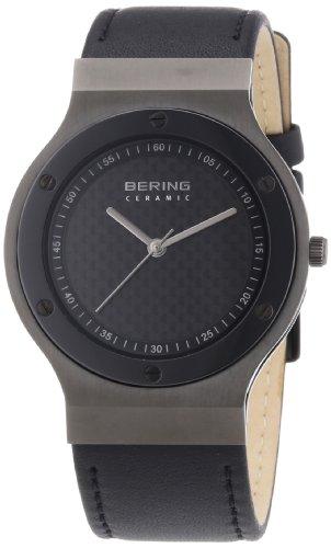 Bering Time - 32538-449 - Montre Mixte - Quartz Analogique - Bracelet Cuir Noir