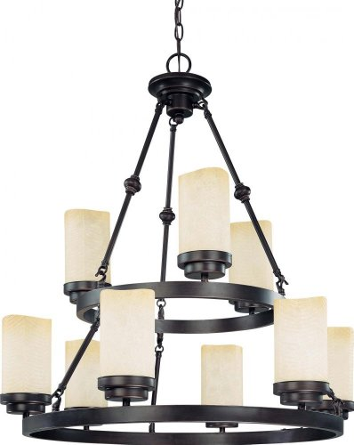 B002VB6Z4Q Nuvo 60/2765 Lucern 2-Tier 9-Light Round Chandelier