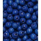 35 Holzperlen 12mm blau speichelfest & schweißecht Made in Germany von BUDILA