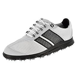 Men\'s Footjoy Superlites CT Spikeless Golf Shoes White/Black Size 11.5 M US