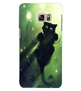 ColourCraft Cute Cat Design Back Case Cover for SAMSUNG GALAXY S6 EDGE PLUS