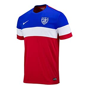 USA Away soccer jersey, World Cup 2014 with official names (L, No name)