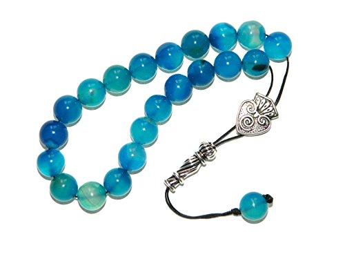 A2-0239 - Loose String Greek Komboloi Prayer Beads Worry Beads 10mm Agate Gemstone Handmade by Jeannieparnell