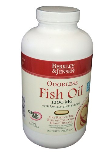 Berkley And Jensen Odorless Fish Oil 1200 Mg With Omega 3 Fatty Acids 300 Softgels Per Bottle