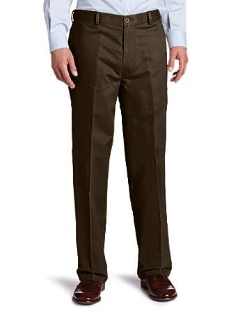 Dockers Men's Comfort Khaki D4 Relaxed Fit Flat Front Pant, Bark, 30x30