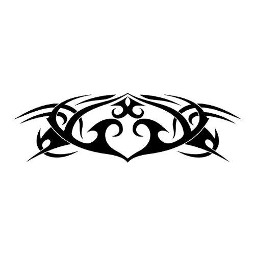 Car Tattoo Design Sticker, Car Graphics W3 - Vinyl Sticker Wall Art Deco Decal 60Cm Width,24Cm Height - Black Vinyl