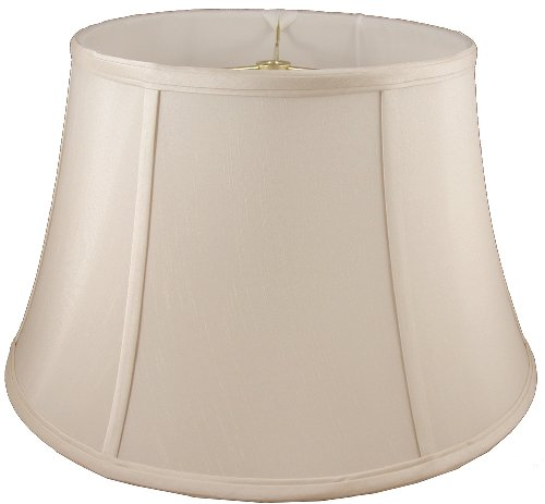 American Pride Lampshade Co. 04-78090418 Round Soft Tailored Lampshade, Shantung, Light Beige
