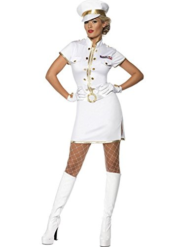 Smiffys Women's White High Seas Captain Costume -US Dress 10-12