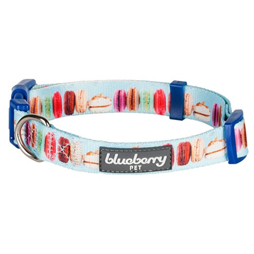 Blueberry Pet The Ultimate Macaroon Cake With Spring Pastel Hues Basic Dog Collar, Neck 14.5