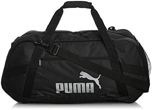 PUMA, Borsa sportiva Active TR Duffle Bag L, Nero (Black-Black)