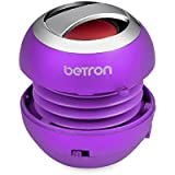 Bluetooth Pop Up Portable Mini Travel II Capsule Rechargeable 40mm Speaker For Iphone, iPod, Ipad, Tablets and MP3 Players (Bluetooth, Purple)