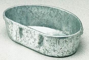 Image of Bird Supplies 1/2 Pint Metal Coop Cup With Bar Tabs (B002GCAVSQ)