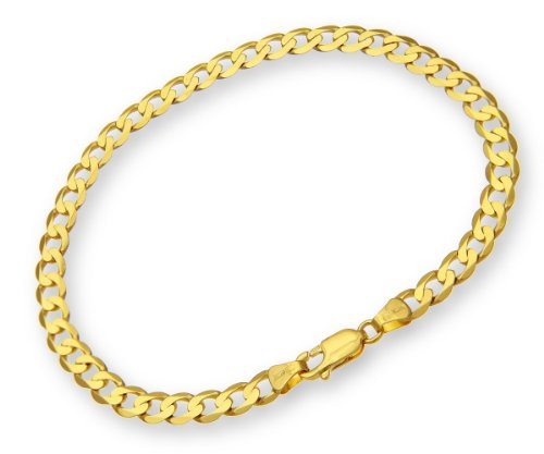 ChainCo 9ct Yellow Gold 5.7g Curb Bracelet of  22cm/8.5 Inch Length and  5.1mm Width