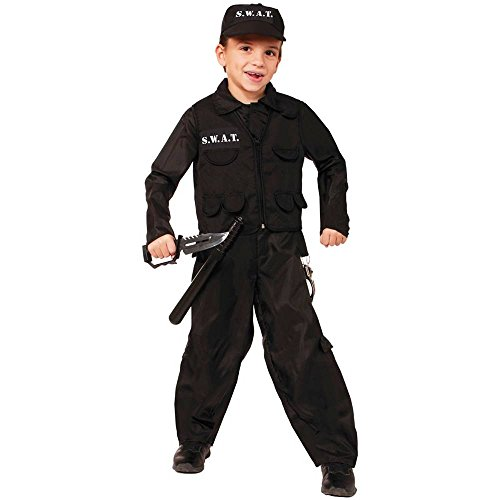SWAT Police Child Costume, Large