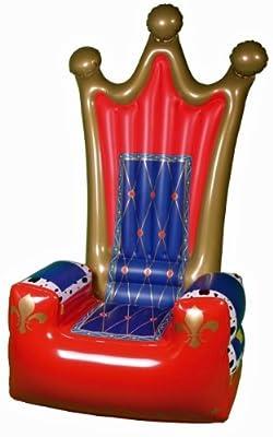 Aufblasbarer Thron Sessel 180cm Mit Pumpe Party Deko Karneval Fasching bei aufblasbar.de