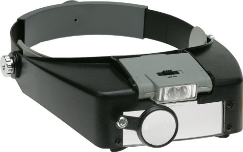 SE MH1047L Illuminated Multipower LED Binohead Magnifier - Magnifying Glass - Amazon.com