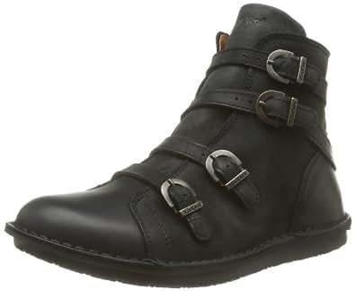 Kickers Waxing, Boots femme - Noir (Noir 8), 36 EU