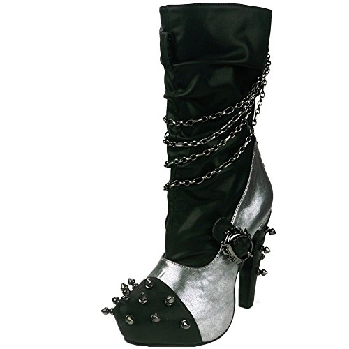 Womens-Hades-Faline-Boot-Silver-Black