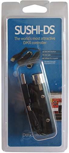 USB To DMX Interface Adapter Computer Software PC DJ Stage Lighting Mini LED Controller 256 DMX Chanl Dimmer (DS) (Color: Ds)