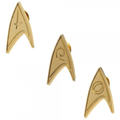 Star Trek Gold Lapel Pin Set of 3