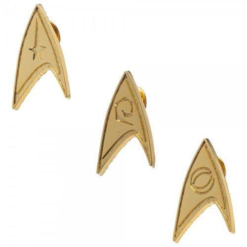Star Trek Gold Lapel Pin Set of 3