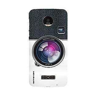 iSweven MotoZ_1297 Printed high Quality Camera_Lens Design Back case cover for Motorola Moto Z