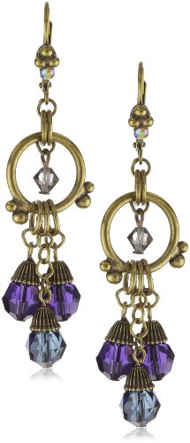"Sorrelli ""Aurora Sky"" Multi-Crystal Chandelier Gold-Tone Earrings"