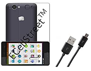 ECellStreet Exclusive Soft Transparent Back Case Cover Back Cover For Micromax Unite 3 Q372 + Free Android cable