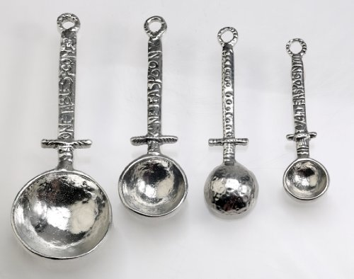 Crosby & Taylor Celtic Pewter Measuring Spoon Set Without Display