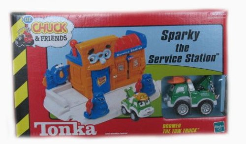 Tonka Lil' Chuck & Friends Sparky the Service Station Playset with Boomer the Tow Truck - Buy Tonka Lil' Chuck & Friends Sparky the Service Station Playset with Boomer the Tow Truck - Purchase Tonka Lil' Chuck & Friends Sparky the Service Station Playset with Boomer the Tow Truck (Hasbro, Toys & Games,Categories,Play Vehicles,Vehicle Playsets)