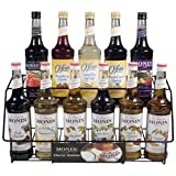 Search : Monin Black 11 Bottle Rack &#40;01-0045&#41; Category: Drink Syrups
