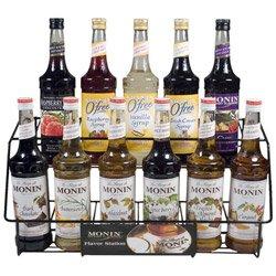 Monin Black 11 Bottle Rack (01-0045) Category: Drink Syrups