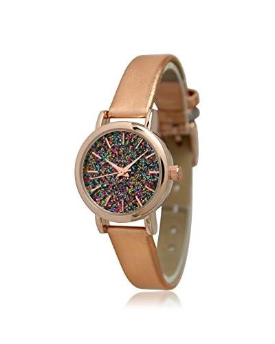 Olivia Pratt Women's 13327GL Confetti Rose/Glitter-Multi Leather Watch